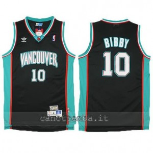 canotta mike bibby #10 vancouver grizzlies nero
