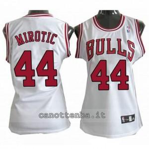 canotta basket donna chicago bulls nikola mirotic #44 bianca
