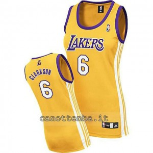 canotta basket donna los angeles lakers jordan clarkson #6 giallo