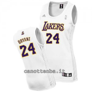 canotta basket donna los angeles lakers kobe bryant #24 bianca