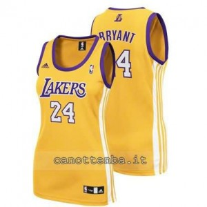 canotta basket donna los angeles lakers kobe bryant #24 giallo