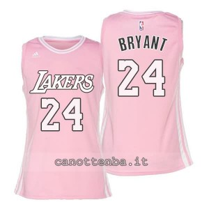 canotta basket donna los angeles lakers kobe bryant #24 rosa