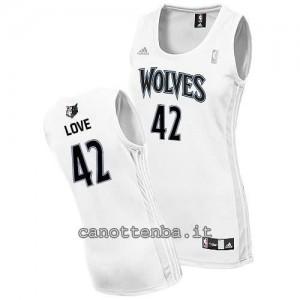 canotta basket donna minnesota timberwolves kevin love #42 bianca