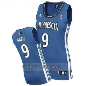 canotta basket donna minnesota timberwolves ricky rubio #9 blu