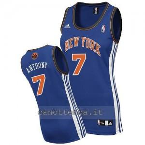 canotta basket donna new york knicks carmelo anthony #7 blu
