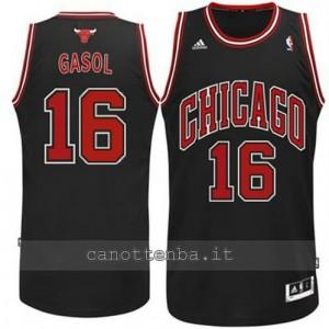canotta pau gasol #16 chicago bulls revolution 30 nero