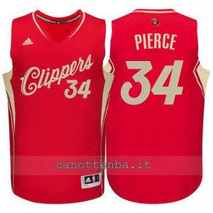 canotta paul pierce #34 los angeles clippers natale 2015 rosso