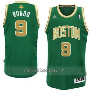 canotta rajon rondo #9 boston celtics 2014-2015 d'oro
