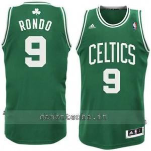 canotta rajon rondo #9 boston celtics revolution 30 verde