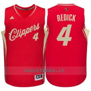 canotta redick #4 los angeles clippers natale 2015 rosso