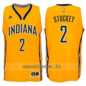 canotta rodney stuckey #2 indiana pacers 2014-2015 giallo