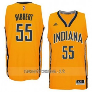 canotta roy hibbert #55 indiana pacers 2014-2015 giallo