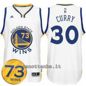 canotta stephen curry #30 golden state warriors 73 wins 2016 bianca