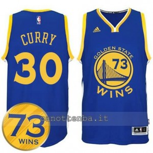 canotta stephen curry #30 golden state warriors 73 wins 2016 blu