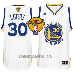 canotta stephen curry #30 golden state warriors finale 2015 bianca