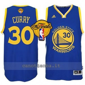 canotta stephen curry #30 golden state warriors finale 2015 blu