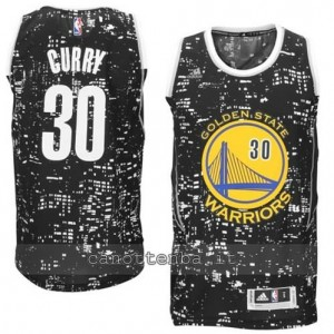 canotta stephen curry #30 golden state warriors lights nero