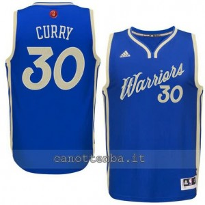 canotta stephen curry #30 golden state warriors natale 2015 blu