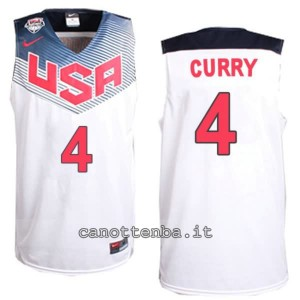 canotta stephen curry #4 nba usa 2014 bianca