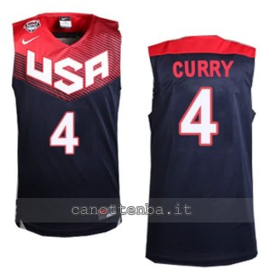 canotta stephen curry #4 nba usa 2014 nero