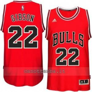 canotta taj gibson #22 chicago bulls 2014-2015 rosso