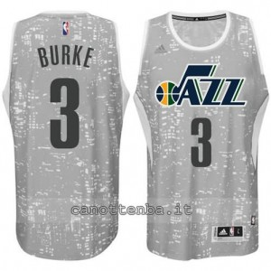 canotta trey burke #3 utah jazz lights grigio