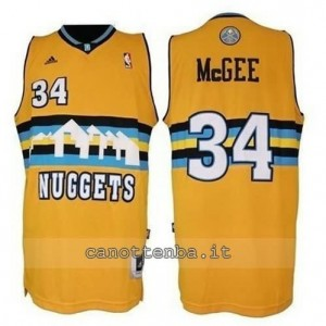 Canotta JaVale McGee #34 denver nuggets revolution 30 giallo