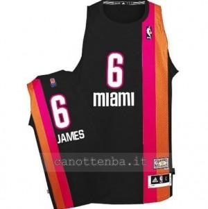Canotta LeBron James #6 miami heat floridian nero