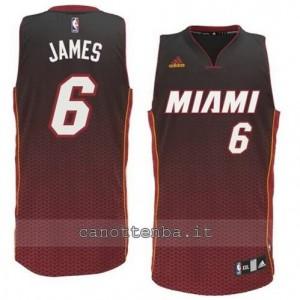 Canotta LeBron James #6 miami heat moda resonate