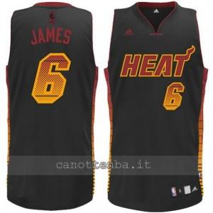 Canotta LeBron James #6 miami heat vibe nero