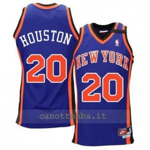 Canotta allan houston #20 new york knicks hwc throwback blu