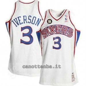 Canotta allen iverson #3 philadelphia 76ers 10th bianca