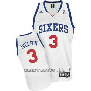Canotta allen iverson #3 philadelphia 76ers revolution 30 bianca