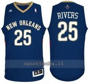Canotta austin rivers #25 new orleans pelicans revolution 30 blu