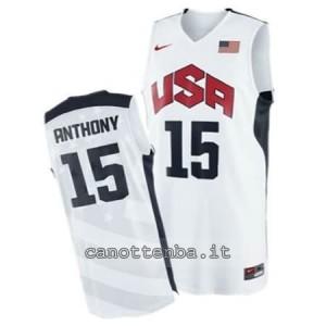 canotta nba carmelo anthony #15 nba usa 2012 bianca