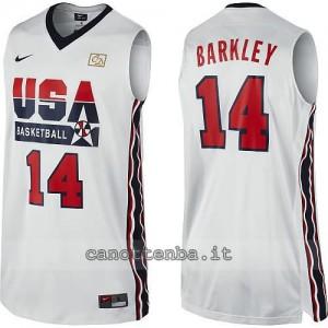 canotta nba charles barkley #14 nba usa 1992 bianca