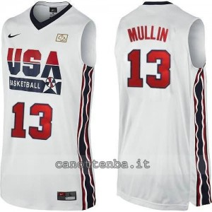 canotta nba chris mullin #13 nba usa 1992 bianca