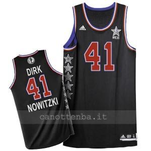 canotta nba dirk nowitzki #41 nba all star 2015 nero