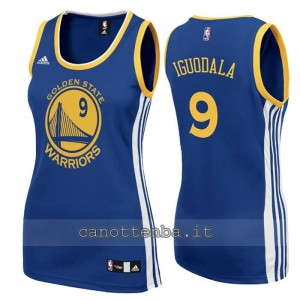 canotta nba donna andre iguodala #9 golden state warriors blu