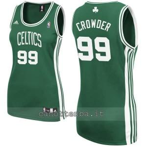 canotta nba donna boston celtics jae crowder #99 verde