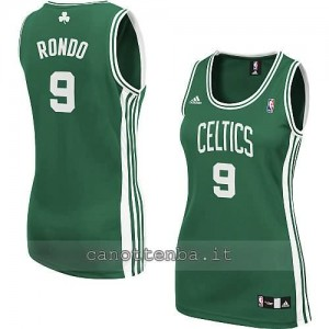 canotta nba donna boston celtics rajon rondo #9 verde