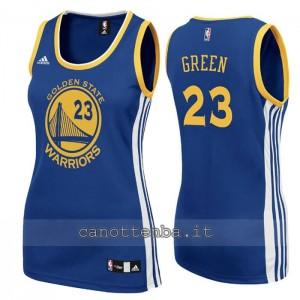 canotta nba donna draymond green #23 golden state warriors blu