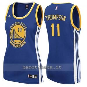 canotta nba donna klay thompson #11 golden state warriors blu