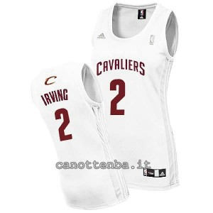 canotta nba donna kyrie irving #2 cleveland cavaliers bianca