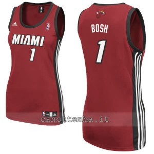canotta nba donna miami heat chris bosh #1 rosso
