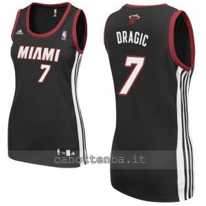 canotta nba donna miami heat goran dragic #7 nero