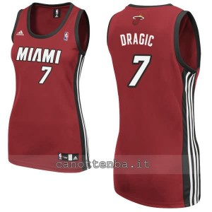 canotta nba donna miami heat goran dragic #7 rosso