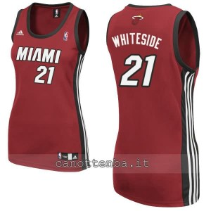 canotta nba donna miami heat hassan whiteside #21 rosso