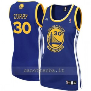 canotta nba donna stephen curry #30 golden state warriors blu