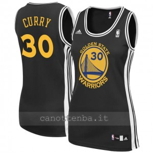 canotta nba donna stephen curry #30 golden state warriors nero